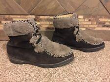 Vintage Womens Snowland Sz 8 Faux Fur Tan/Brown Fashion Boots Ski 24993