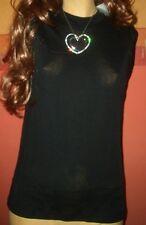 Edles Graziella Damen Shirt Hemd Top Unterhemd schwarz Gr. 44 neu (B52)