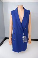 Versus Versace NEW Blue Blazer Jacket Dress It40 uk 10 Bnwts Backless Rrp £600