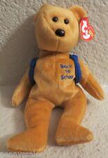 Ty Beanie Baby Books Back to School Bear Blue Backpack 2004