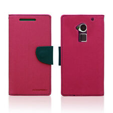 Korean Mercury Fancy Diary Wallet Case Cover for HTC One Max - Hot Pink