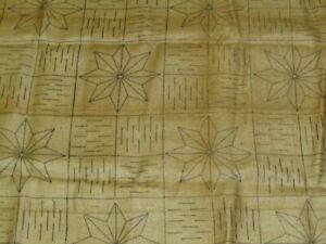 """Vintage HEIRLOOM RUGS Prov. RI Hooked Rug Pattern BURLAP """"STAR"""" 40x72"""