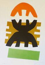 Giuseppe Capogrossi HAND SIGNED ORIGINAL LITHOGRAPH Composition 1970 Italian