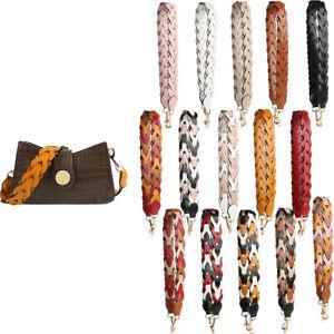 Faux Leather Weave Strap Crossbody Bag Belt Replacement Handbag Purse Handle New
