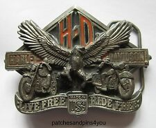 Harley Davidson LIVE FREE ~ RIDE FREE H-405 Baron Belt Buckle