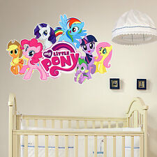 MY LITTLE PONY GANG GIRLS BOYS KIDS BEDROOM VINYL DECAL WALL ART STICKER  GIFT