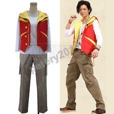 Super Sentai Zyuden Sentai Kyoryuger Red Daigo Kiryu Cosplay Costume