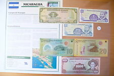 "SUPERBE BILLETS UNC + NOTICE PAYS - "" NICARAGUA "" ETAT NEUF !! (01/04/16)"