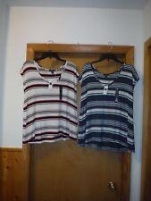 Short Sleeve Open Back T-Shirts Gap size XL,LG,Multi Color Stripe 95% viscose 5%