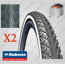 Pair of 26 x 1.5 Inch Puncture Protected Commuter - Mountain Bike Tyres