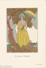 BRUNELLESCHI ZINOVIEW BONNOTTE - La Guirlande N°9 - 1920 POCHOIRS Mode Art Déco