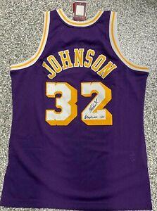 LA Lakers Magic Johnson Signed Showtime Mitchell & Ness Jersey Fanatics Holo