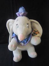 "RARE VTG 80s 15"" tall Disney Channel Promo Dumbo's Circus Dumbo Elephant Plush"