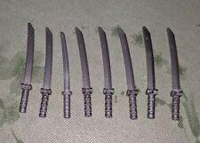 Lego Lot Of 8 Weapon sword Katana Shamshir Silver Minifigure Ninja Ninjago RARE