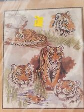 Something Special Tiger Collage Needlepoint Kit Candamar Designs Cat Wild New