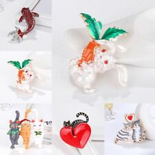 Pin Women Costume Charm Wedding Jewelry Fashion Cat Fish Rabbit Animal Brooch