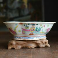 Antique chinese famille rose altar bowl late Qing dynasty
