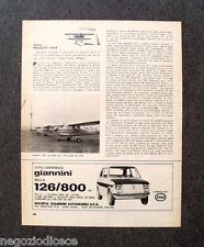 P768 - Advertising Pubblicità -1974- ESPERIENZA GIANNINI 126/800.