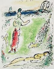 Athena Puts Ulysses to Sleep The Odyessy 1989 Limited Edition Litho Marc Chagall