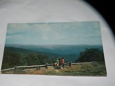 VINTAGE BASIN COVES FROM DOUGHTON PARK BLUE RIDGE PKWY NC POSTCARD Ray Scott