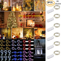 6 Set 3ft Battery Powered Waterproof 20 LED String Fairy Lights Copper Wire New