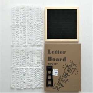 Felt Letter Board with Letters For Home Decoration Message Oak Wood Square 610g