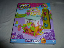 NEW IN BOX SHOPKINS KINSTRUCTIONS FLOWER STAND 3 BUILDABLE FIGURES NIB 101 PCS >