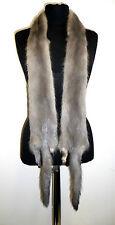 NEU 2 NERZ Saphir grau Pelzstücke mink fur pieces gray vison