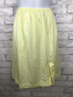 "Vintage Deena Fine Lingerie Half Slip Yellow Nylon  21"" Long Size Medium"