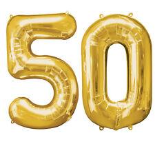 extra large doré 50th anniversaire feuille Ballon Décoration de fête âge 50 ans