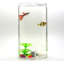 Mini Aquarium  Fish with LED Lighting Betta Aquarium Bowl Tank ,Free shipping