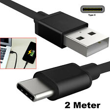 2m Long Usb-c Type C 3.1 Fast Data Sync Charging Cable Lead Samsung Galaxy S8 S9