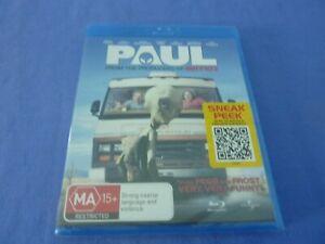 Paul Blu-ray Simon Pegg Nick Frost Jason Bateman New Sealed Free Tracked