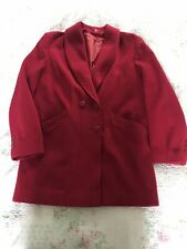 Mid Length LONG TALL SALLY Pure Wool Red Winter Coat-size 16 VGC