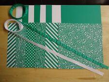 "Stampin Up EMERALD ENVY 6 X 6"" Designer Paper Card Kit Ribbon"