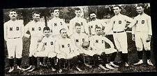 UTLRA-RARE! 1887 Notre Dame Football Team Photo, 1st ND Team, 1910's Re-Strike