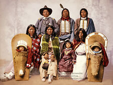 Giclee Restored Reprint Vintage Native American Indian Photo UTE CHIEF FAMILY