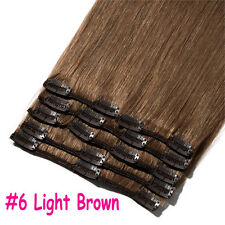 "7pcs 15"" 18"" 20"" 22"" Clip In Remy Real 100% Human Hair Extensions Full Head N206"