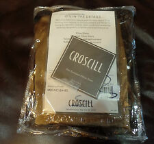 Croscill Euro Sham Mosaic Leaves Wine Gold Reversible New