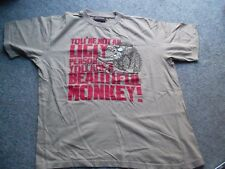 T Shirt-feo persona Hermoso Mono - 38in pecho tan Hombre Chico/11-12 años