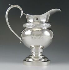 Antique Early 19th Century American Coin Silver Milk Pitcher or Creamer