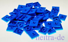LEGO - 50 X PIASTRELLA 2x2 con scanalata al Centro Blu/87580 merce nuova (l08)