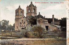 SAN ANTONIO TX~MISSION CONCEPCION~GROMBACH-FAISANS (NEW ORLEANS) POSTCARD 1908