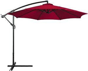 Best Choice Products 10ft Offset Hanging Umbrella w/easy Tilt adjustment-Red