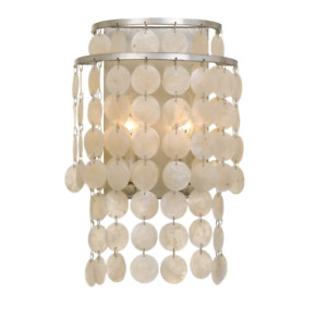 """Crystorama Lighting Group Brielle 2 Light 14"""" Tall Wall Sconce"""
