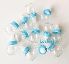12 Fillable Bottle Baby Shower Favors Decoration Keepsake Plastic Milk Bottle