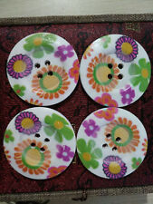 4PC Mixed Color Wooden Circular Sewing or Scrapbooking 4 Holes 45mm #N19