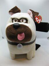 TY Beanie Buddy - MEL the Pug Dog (Secret Life of Pets) NEW Stuffed Animal NWT