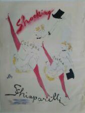1948 Shocking de Schiaparelli women dancing pink hosiery Vertes art vintage ad