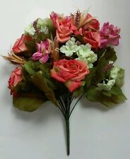 "19"" Multicolor Rose Mixed Bouquet Silk Flower Home Office Kitchen Wedding Decor"